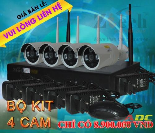 Bộ COMBO đầu ghi hình và camera wifi